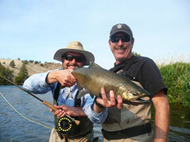 A Jack Chinook caught while on a guide trip on the Lower Deschutes River