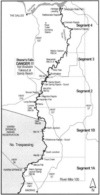 Deschutes River Boating Map