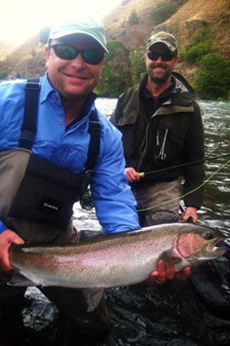 Deschutes river steelhead guides river borne outfitters for Deschutes river fishing report