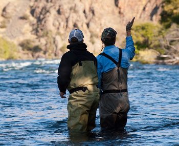 A Bend, Oregon fly casting lesson