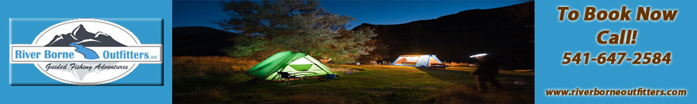 A Deschutes River Camp at Night