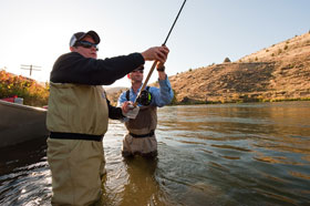 Oregon fly fishing guide service river borne outfitters for Fishing lessons near me
